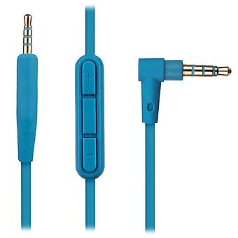 REYTID Audio Cable Compatible with Bose QuietComfort 35 / QC35 Headphones with Inline Remote, Volume Control and Microphone - Blue - Compatible with iPhone / Android