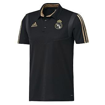 2019-2020 Real Madrid Adidas Polo Shirt (Black)