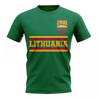 Litauen Kern Fußball Land T-Shirt (grün)
