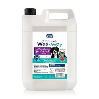 RSPCA Wee Away 5L Pet Friendly Stain e Odour remover Formula probiotico