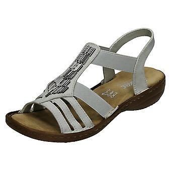 Senhoras Rieker casual sandália slingback 60800