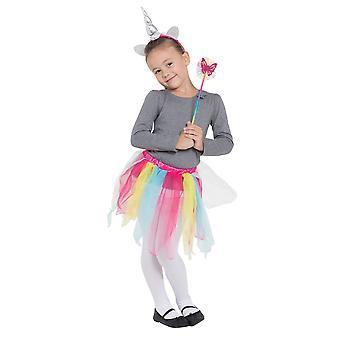 Bristol Novelty Childrens/Girls Rainbow Unicorn Set