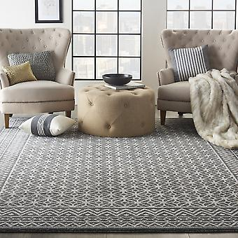 Palermo Rugs Pmr02 In Charcoal Silver By Nourison
