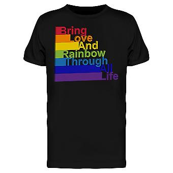 Bring Love Rainbow Through Life Tee Men's -Image by Shutterstock