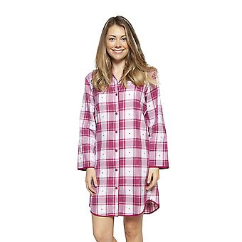 Cyberjammies 4225 Donne's Susie Ciliegia Rosso Check Cotton Nightshirt