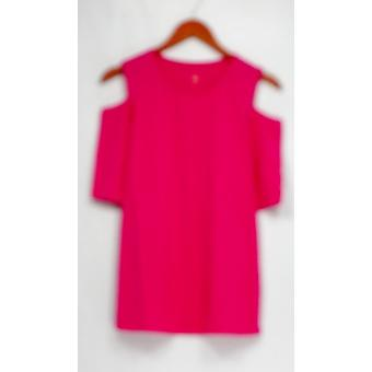 Belle by Kim Gravel Top TripleLuxe Knit Elbow Sleeve Pink A301607