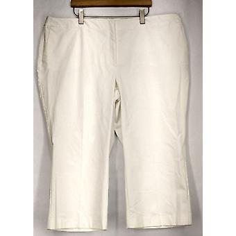 Alfani plus broek bijgesneden controle Pant witte Womens