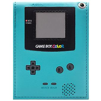 Retro Game Boy Color Console Handheld Teal ID & scheda BiFold Wallet