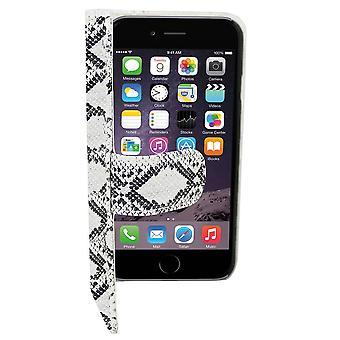 iPhone 6 Plus Ledertasche Serpetijn weiß - Bücherregal