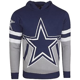 NFL Ugly Sweater Big Logo Knit Hoody - Dallas Cowboys