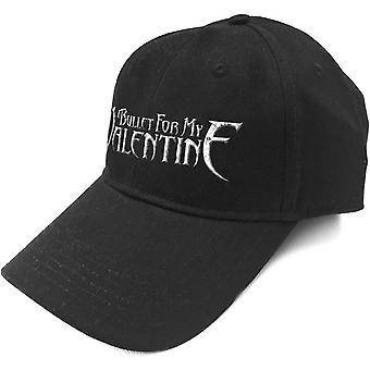 Bullet For My Valentine Baseball Cap Silver Band Logo Official Black Strapback