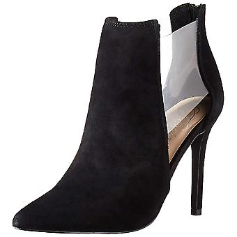 Fergie Womens Arie Faux Fur Pointed Toe Ankle Fashion Boots