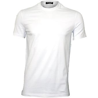 DSquared2 cuello logotipo camiseta de cuello redondo, blanco