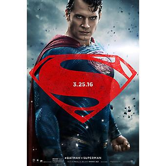 Batman V Superman Dawn Of Justice Original Movie Poster Double Sided Advance Style D