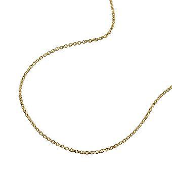 goldene Anker Kette, 50cm, Ankerkette rund, 9 Kt GOLD 375 Damen Herren