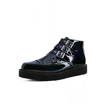 TUK sko sort hologram patent 3-spænde spidde Creeper støvle