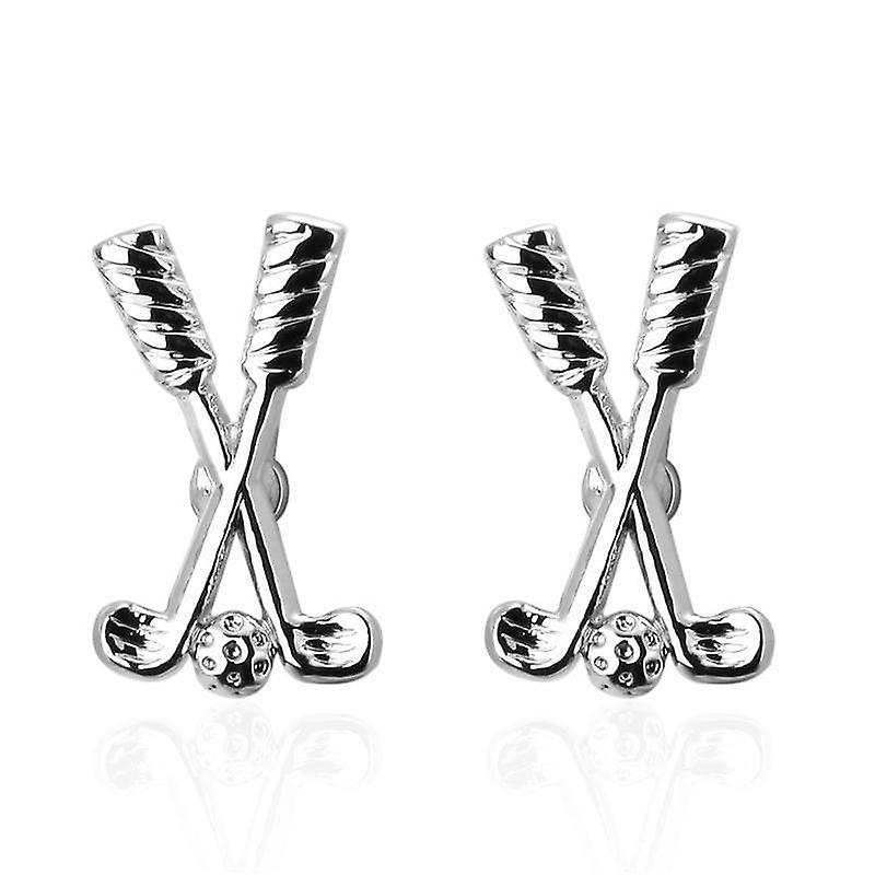 Golf sport theme suit men's cuff links stainless steel