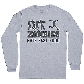 Zombies Hate Fast Food - Mens Long Sleeve T-Shirt