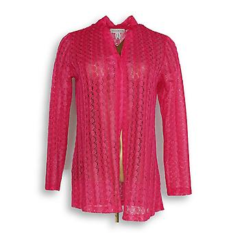Susan graver vrouwen ' s top XXS Gehaakt vest roze A303330