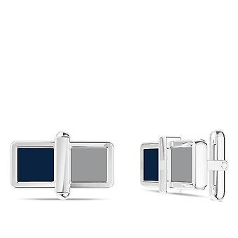 New York Yankees Yankees Colorblock Enamel Cuff Links In Blue and Red In Sterling Silver