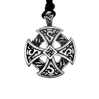 Celtic Eternity Knotwork Unisex Pewter Necklace Pendant - Ring Cross