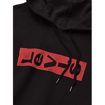 Levi ' s män ' s Classic hoodie, Caviar/Lazy tab, Caviar/Lazy Tab logo, storlek small
