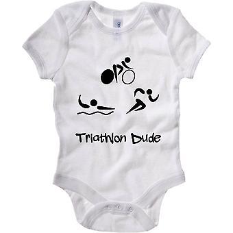 Body newborn white fun4073 triathlon dudejpg square canvas pillow