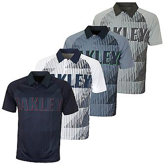 Oakley Mens Oakley Logotipo Ousado Respirável Golf Polo Camisa polo