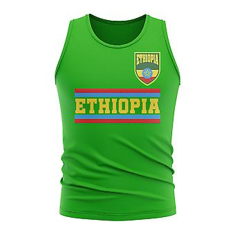 Ethiopië core Voetballand mouwloos Tee (groen)