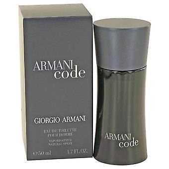 Armani Code Eau De Toilette Spray By Giorgio Armani   416210 50 ml