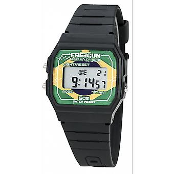-Watch Freegun EE5207 child Silicone black flag Br mixed silien