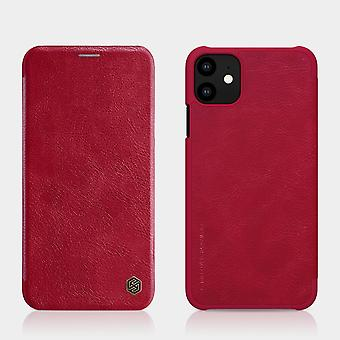 Protective Case Faux Leather Flipcase Cover for Apple iPhone 11 6.1 Inch Red Case Case