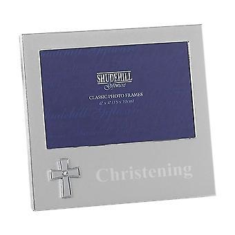 Shudehill Giftware Christening Cross 6 X 4 Photo Frame