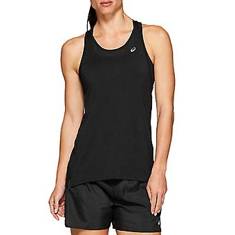 Asics Loose Strappy Womens Ladies Exercise Fitness Training Tank Top Black