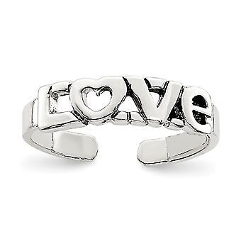 925 Sterling Silver Love Toe Ring Presentes de Jóias para Mulheres