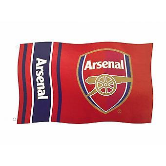 Arsenal FC Wordmark Stripes Flag