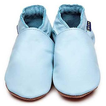 Baby shoes plain baby blue - inch blue
