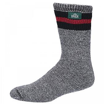 Muck Boots Mens Charcoal/multi All American Wool Boot Socks 3 Pack