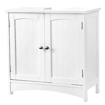 Waschbecken mit 2 Türen-weiß
