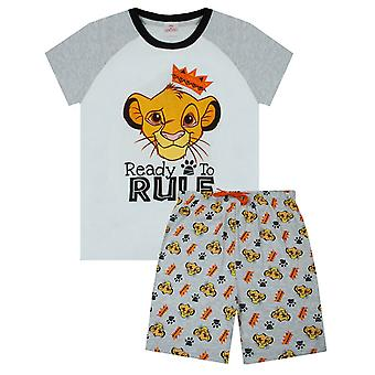 Disney Lion King Pyjamas Ready To Rule Boy's Kids Shorts PJ Sleepwear