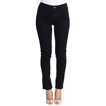 Costume National Costume National Black Cotton Stretch Womens Slim Fit Jeans