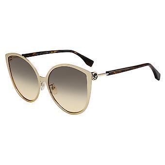 Fendi FF0395/F/S J5G/GA Gold/Brown Gradient Sunglasses