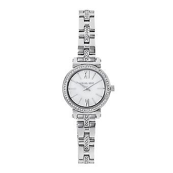 Michael Kors Watches Mk3906 Sofie Crystal And Mother Of Pearl Silver Stainless Steel Ladies Watch