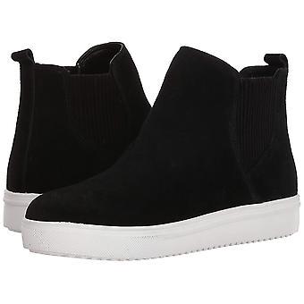 Blondo Women's Gennie Waterproof Sneaker, black suede, 7 M US