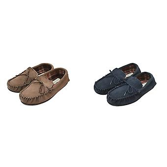 Eastern Counties Leather Mens Fabric Lined Moccasins