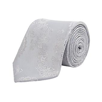 Dobell Boys Silber Paisley Krawatte
