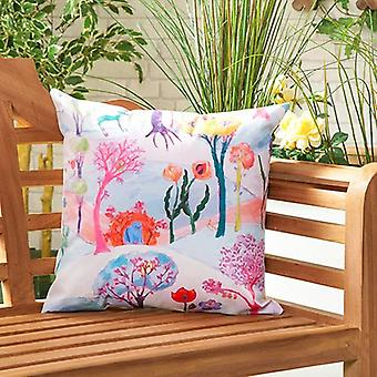 Enchanted Water Resistant Outdoor Scatter Garden Furniture Filled Cushion Imprimé 18-quot; (45cm)