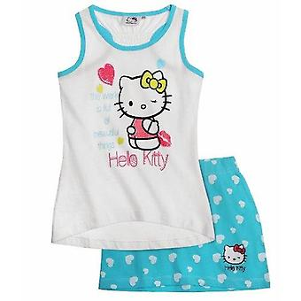 Hello kitty girls tank top and skirt outfit set