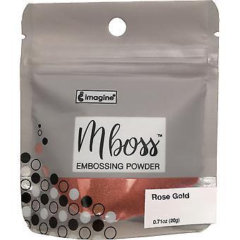 Imagine Mboss Embossing Powder - Rose Gold