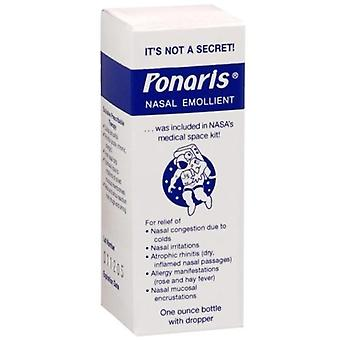 Ponaris nasal emollient drops with dropper, 1 oz